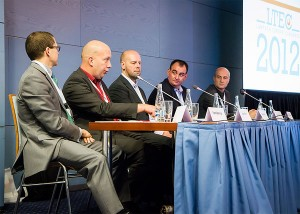 Jason Plant on the panel at LTEC 2012 in Prague